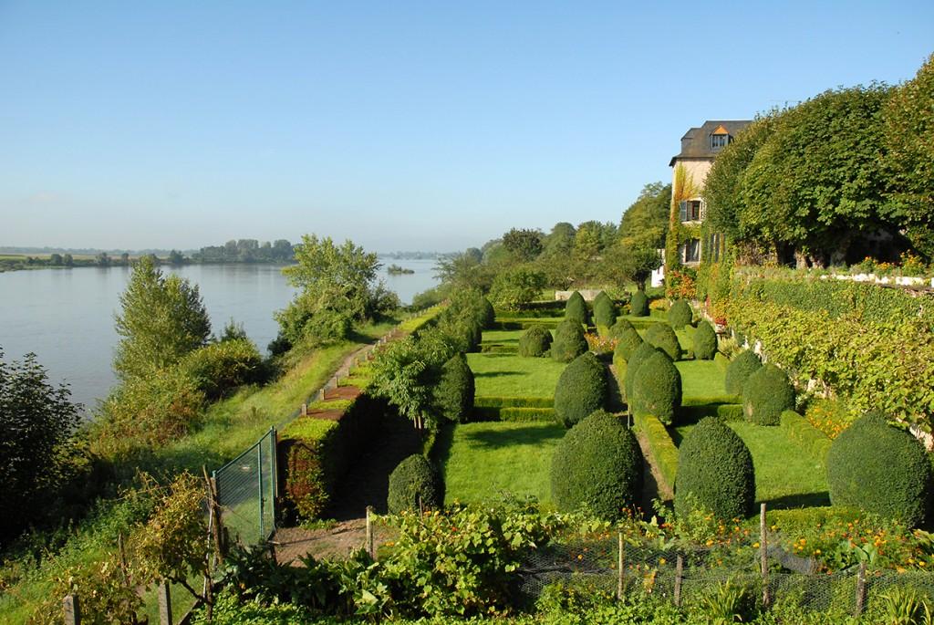 Maison et jardin à la française